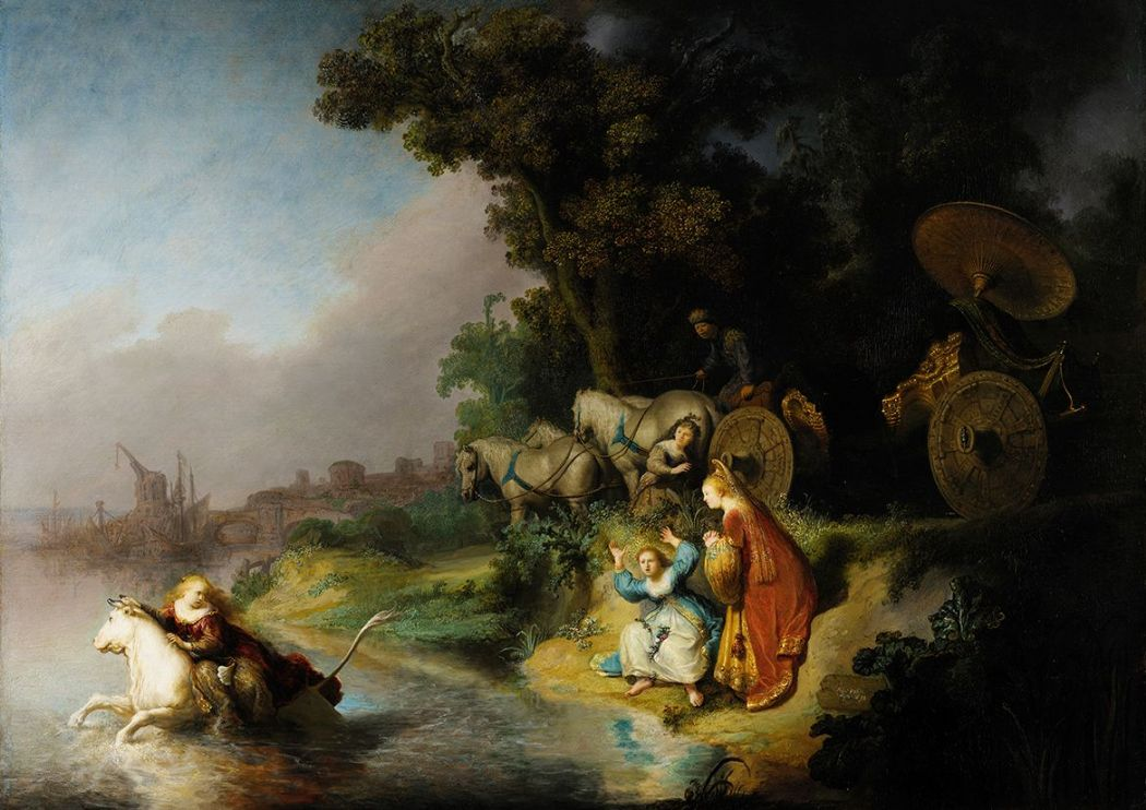 Rembrandt: The Abduction of Europa. Fine Art Print/Poster. Sizes: A4/A3/A2/A1 (004299)
